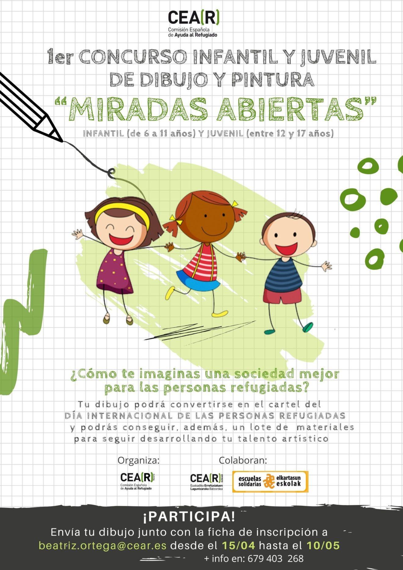 """Primer concurso infantil y juvenil de dibujo y pintura """"miradas abiertas"""""""