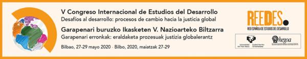 V Congreso Internacional de Estudios del Desarrollo (Hegoa-REEDES)/ Garapenari buruzko Ikasketen V. Nazioarteko Biltzarra (inscripciones)