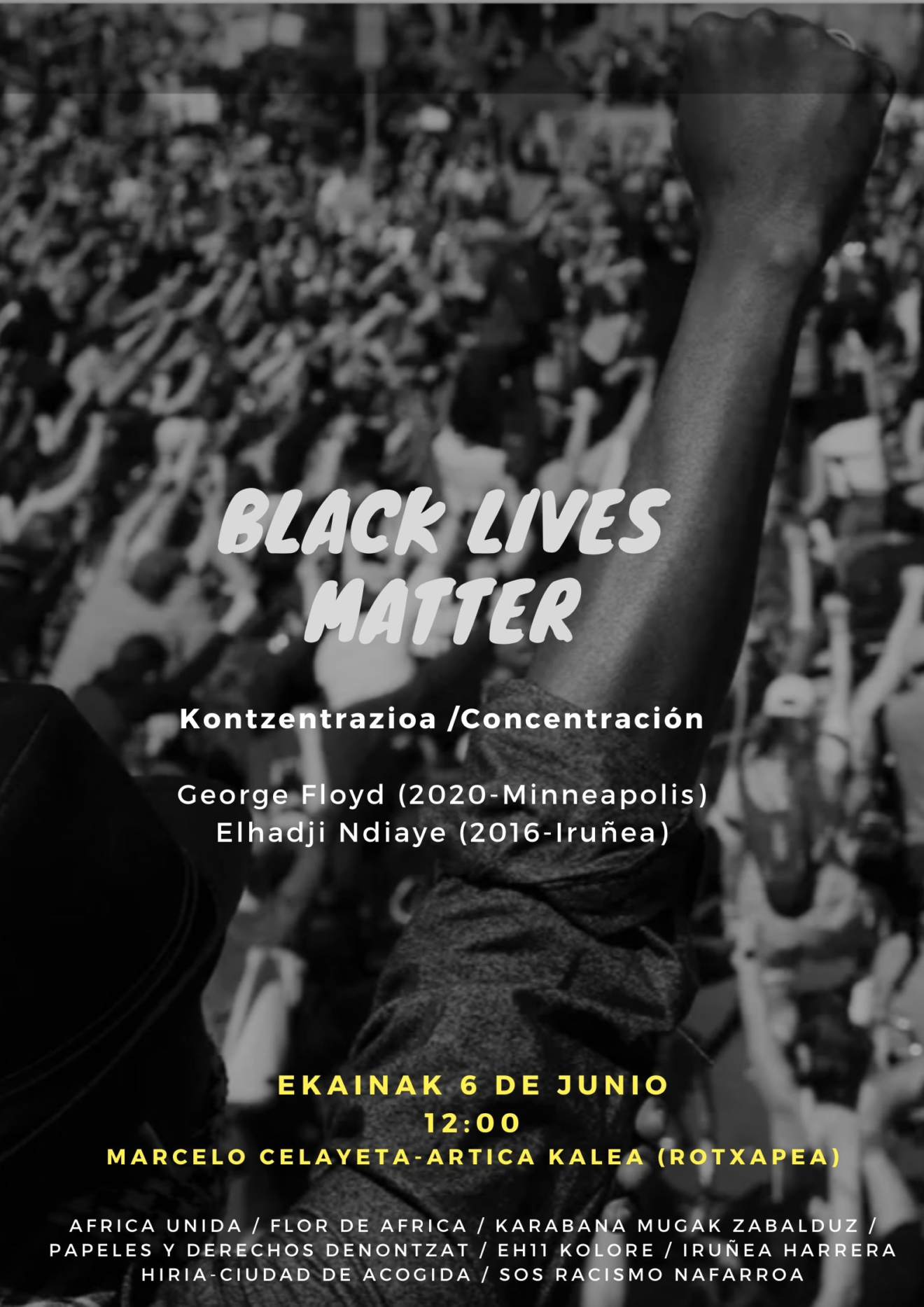 Kontzentrazioa/Concentración Black Lives Matter (Ekainak 6 Junio 12:00)