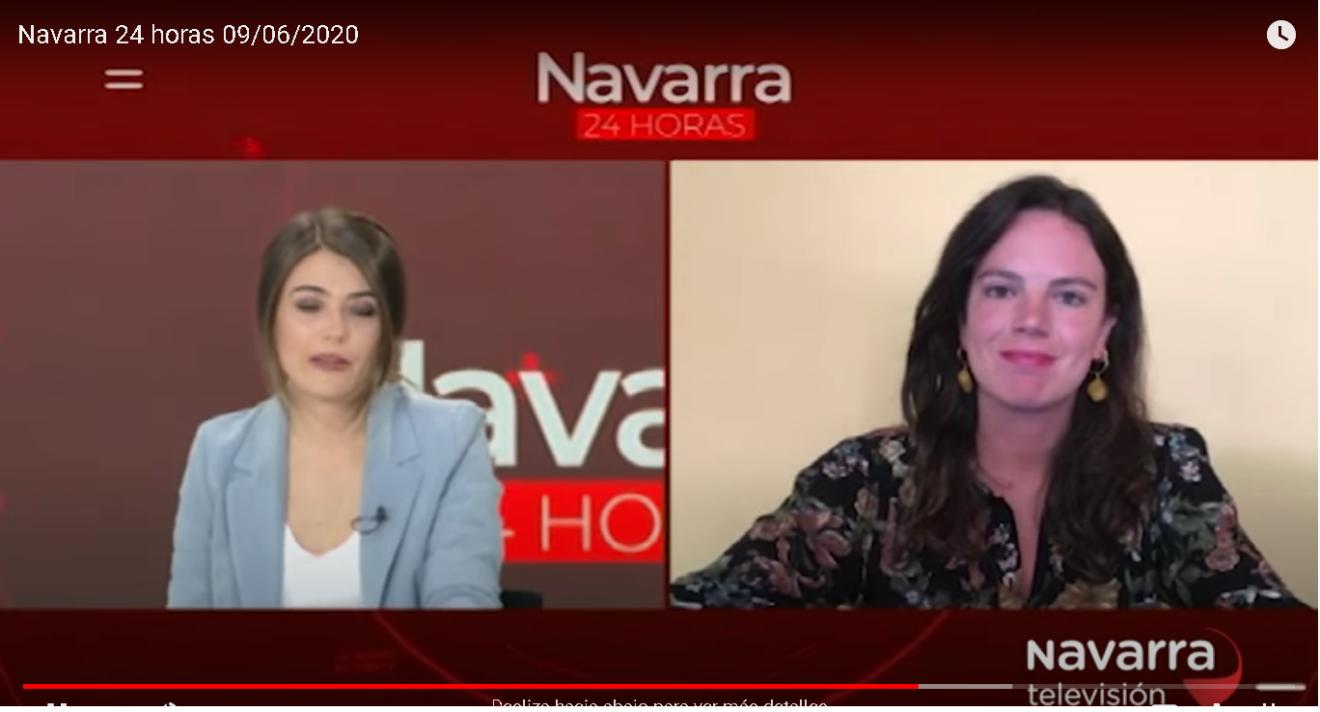 Navarra TV entrevista a Celia Pinedo, Presidenta de la Coordinadora de ONGD de Navarra