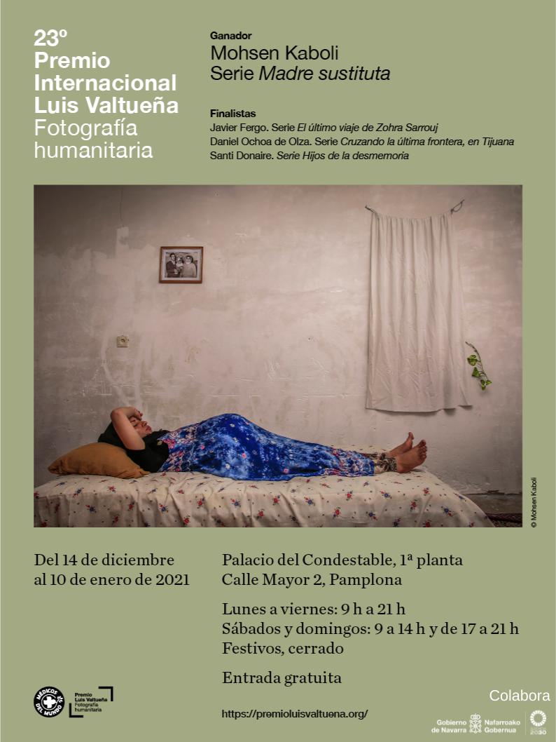 23º Premio Internacional de Fotografía Humanitaria llega al Condestable  de Pamplona.