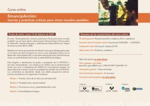 """""""EmancipAcción: teorías y prácticas críticas para otros mundos posibles"""""""