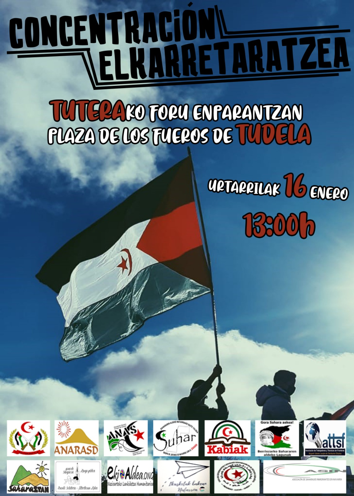 Concentración en apoyo al Pueblo Saharaui