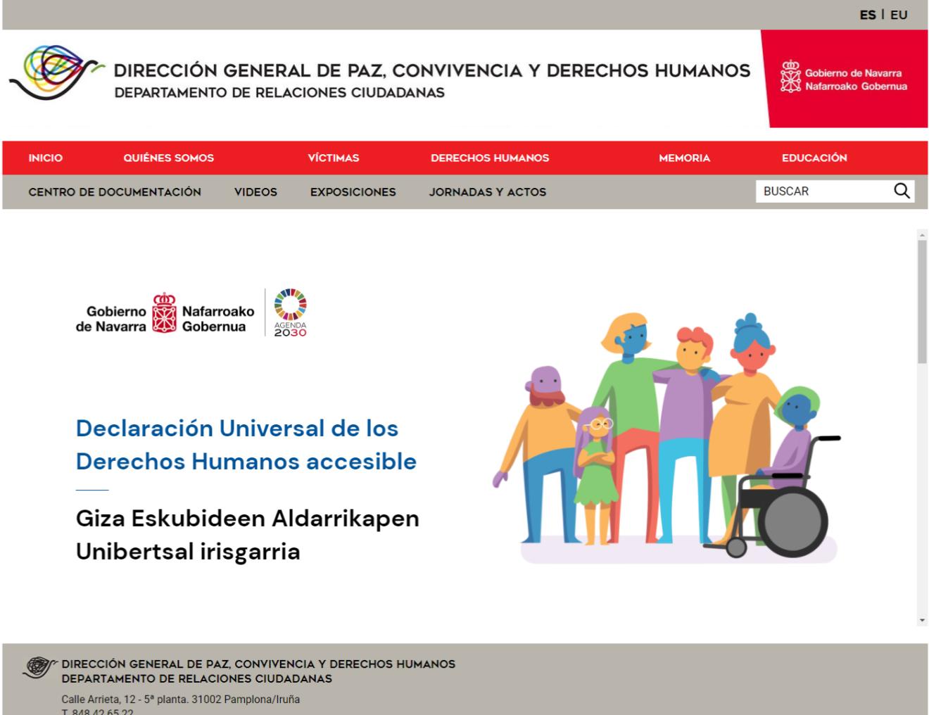 El Gobierno de Navarra publica la Declaración Universal de los Derechos Humanos con criterios de accesibilidad universal
