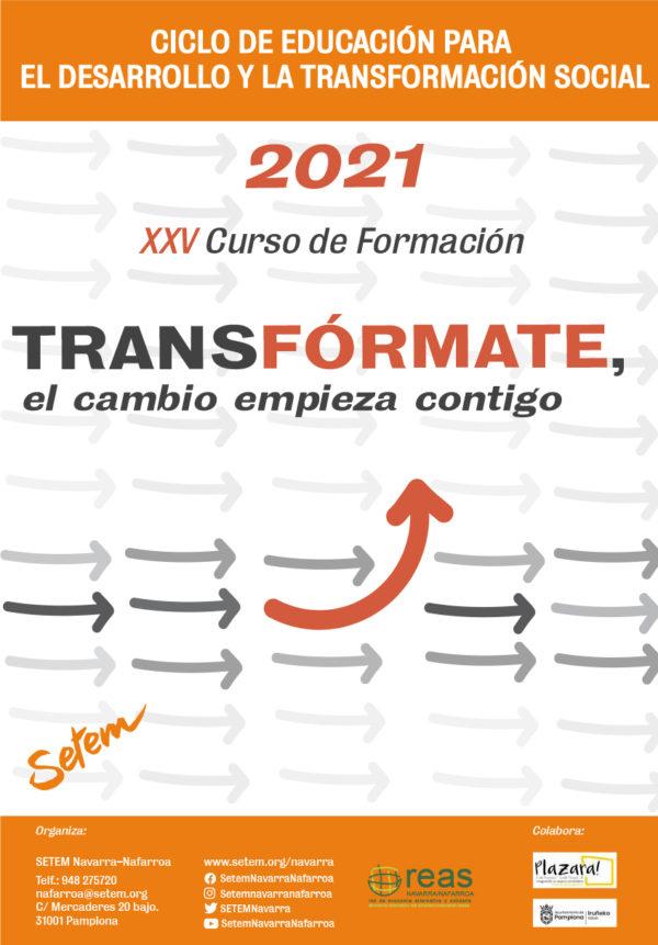 """XXV Curso de Formación, """"TRANS-FÓRMARTE, EL CAMBIO EMPIEZA CONTIGO"""""""