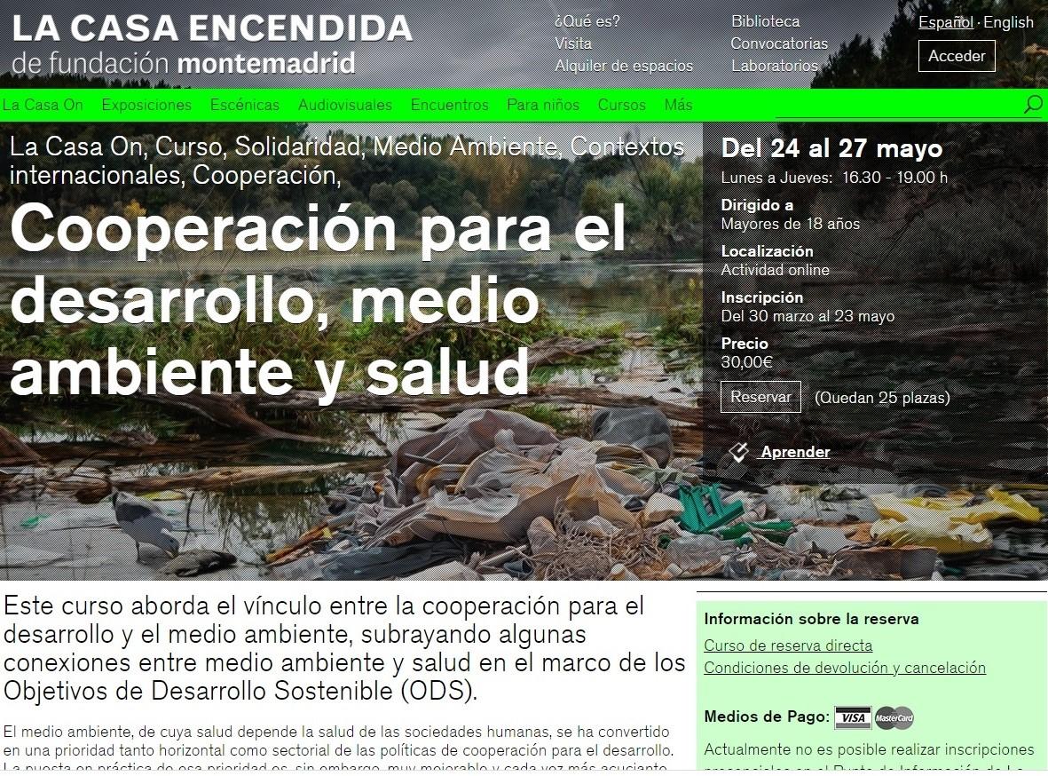 Curso online: Cooperación para el desarrollo, medio ambiente y salud