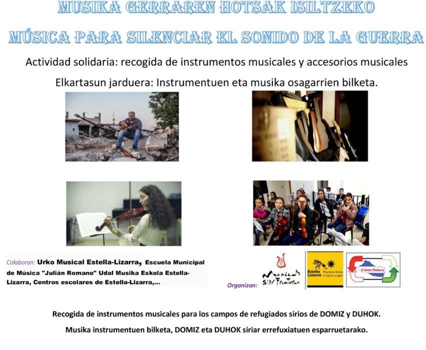 """""""Armonías para después de la guerra"""". Campaña de recogida de instrumentos para los campos de personas refugiadas de Domiz y Duhok ( Kurdistan Iraqui)"""