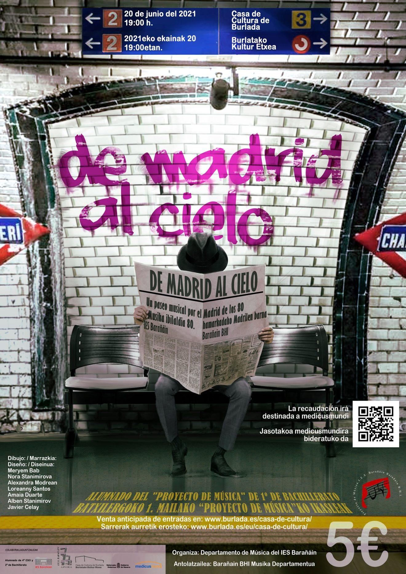 """Musical """"De Madrid al Cielo"""" del IES Barañain a favor de medicusmundi"""