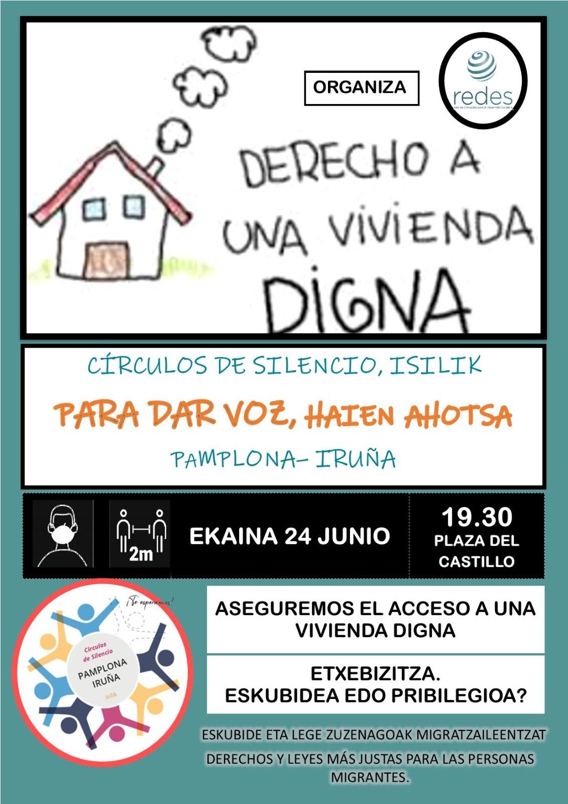 """CÍRCULOS DEL SILENCIO """"Aseguremos el acceso a una vivienda digna"""""""