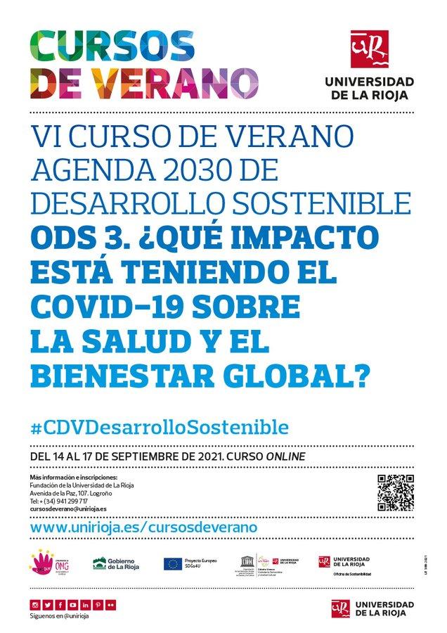 VI Curso de Verano Agenda 2030 de Desarrollo Sostenible ODS 3: ¿Qué impacto está teniendo el COVID-19 sobre la salud y el bienestar global?