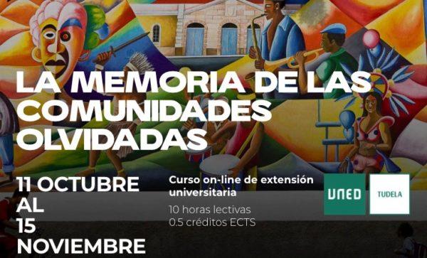 """Curso on line """"La Memoria de las Comunidades Olvidadas"""""""